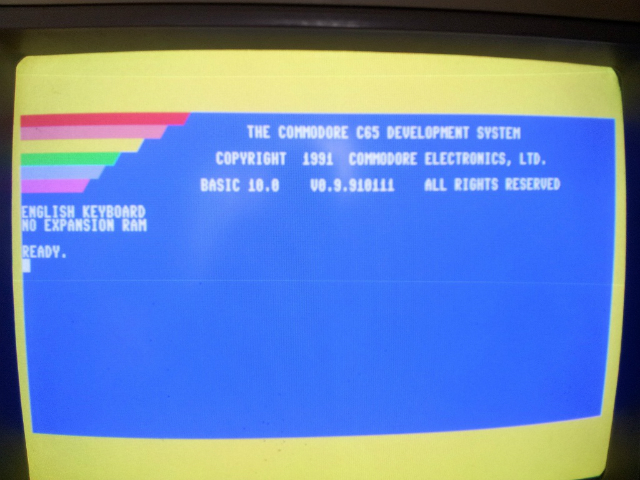 Commodore 65 boot screen